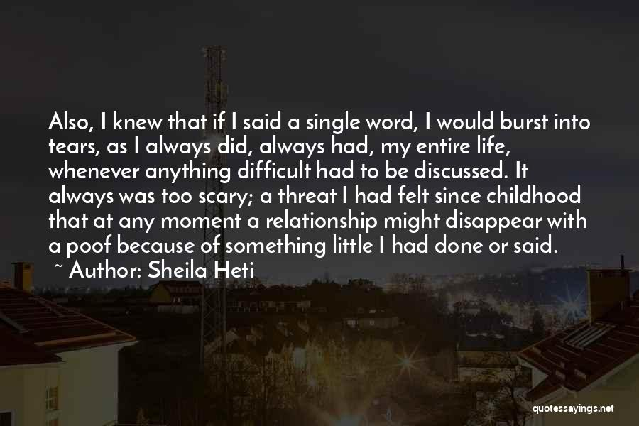 If I Disappear Quotes By Sheila Heti