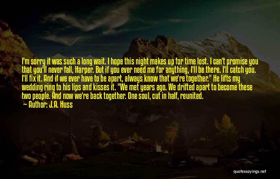 If I Never Met You Quotes By J.A. Huss