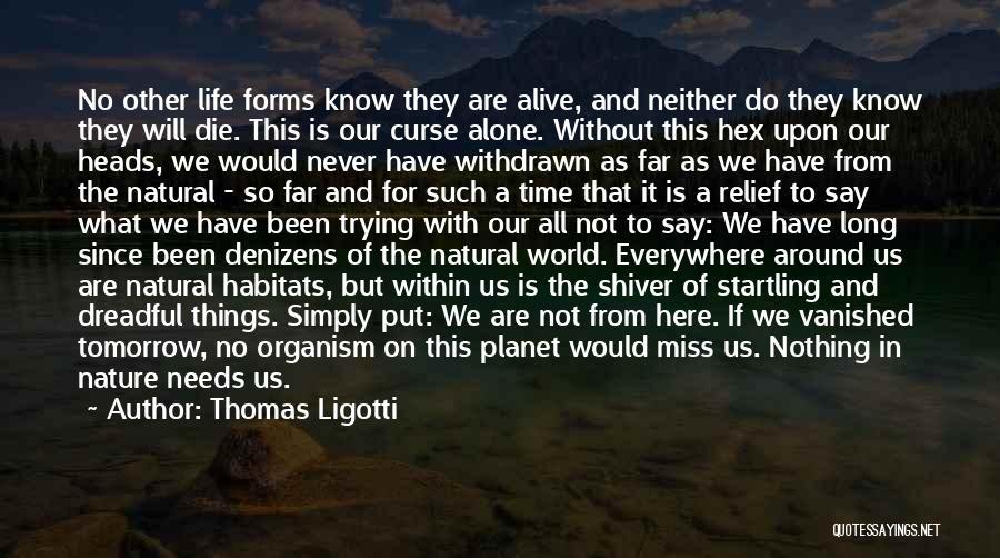 If I Will Die Tomorrow Quotes By Thomas Ligotti