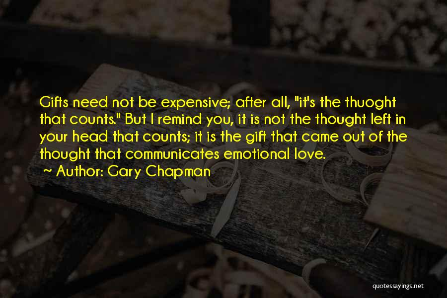 If It's The Thought That Counts Quotes By Gary Chapman