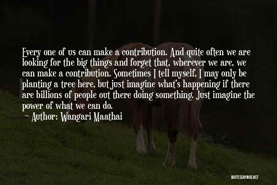 If Only I Can Do Something Quotes By Wangari Maathai