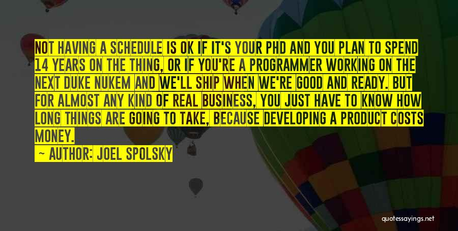 If Things Are Going Good Quotes By Joel Spolsky