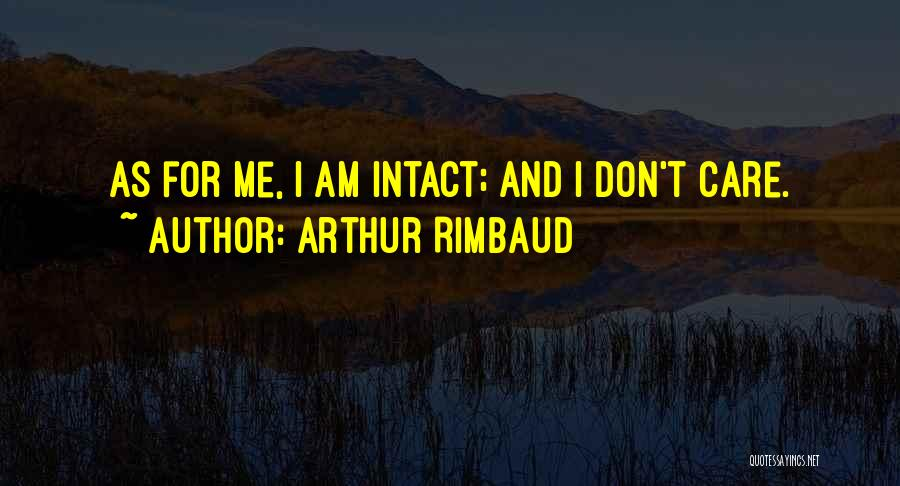 If U Dont Care Quotes By Arthur Rimbaud