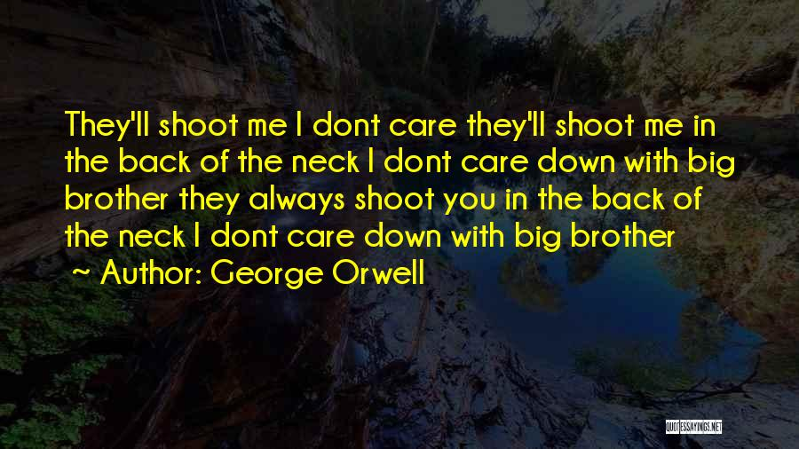 If You Dont Care Quotes By George Orwell