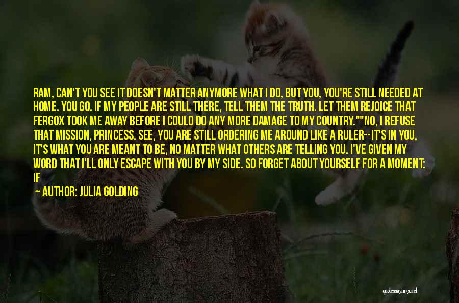 If You Don't Care Tell Me Quotes By Julia Golding