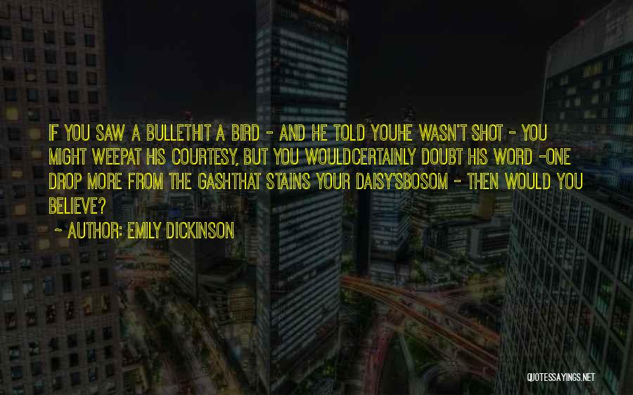 If You Doubt Quotes By Emily Dickinson