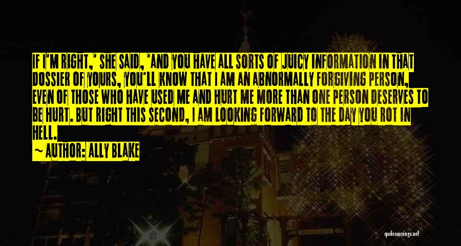 If You Hurt The Right Person Quotes By Ally Blake