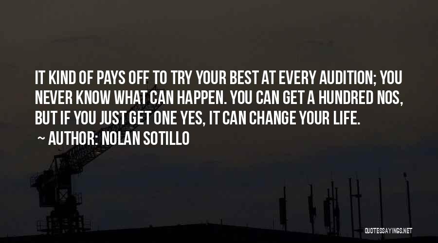 If You Never Change Quotes By Nolan Sotillo