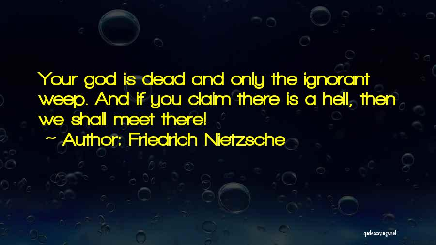If You Only Quotes By Friedrich Nietzsche