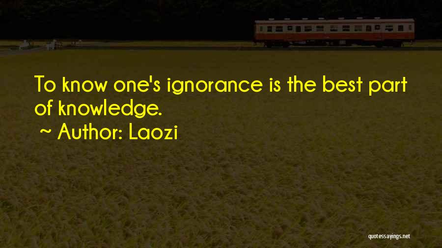 Ignorance Is The Best Quotes By Laozi