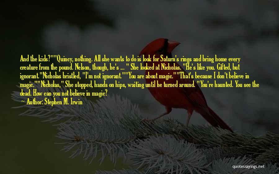 Ignorant Family Quotes By Stephen M. Irwin