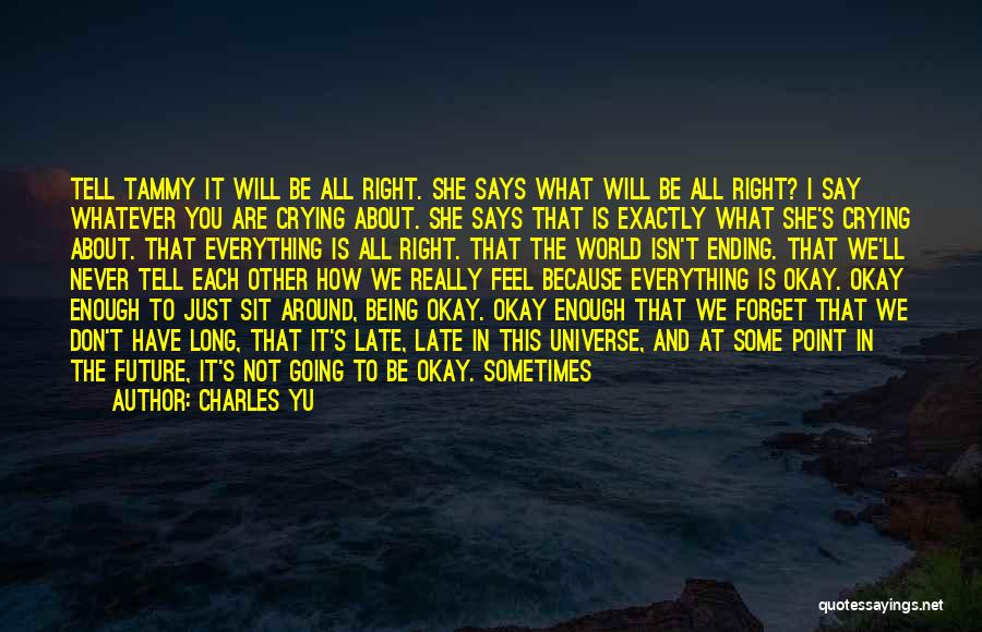 I'll Never Be Okay Quotes By Charles Yu
