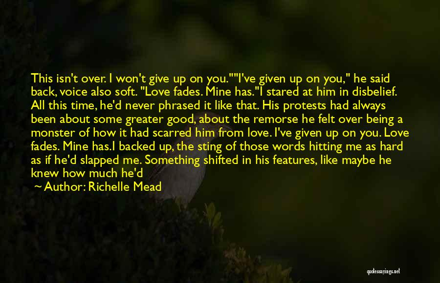 I'll Never Give Up On Love Quotes By Richelle Mead