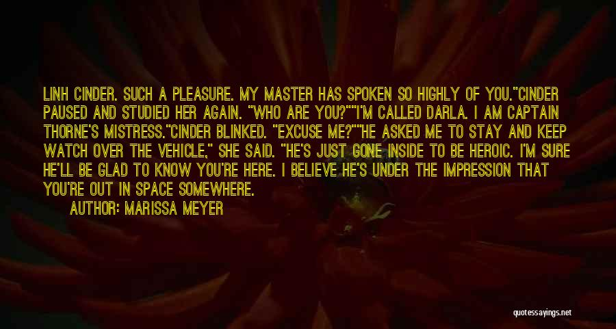 I'll Watch Over You Quotes By Marissa Meyer