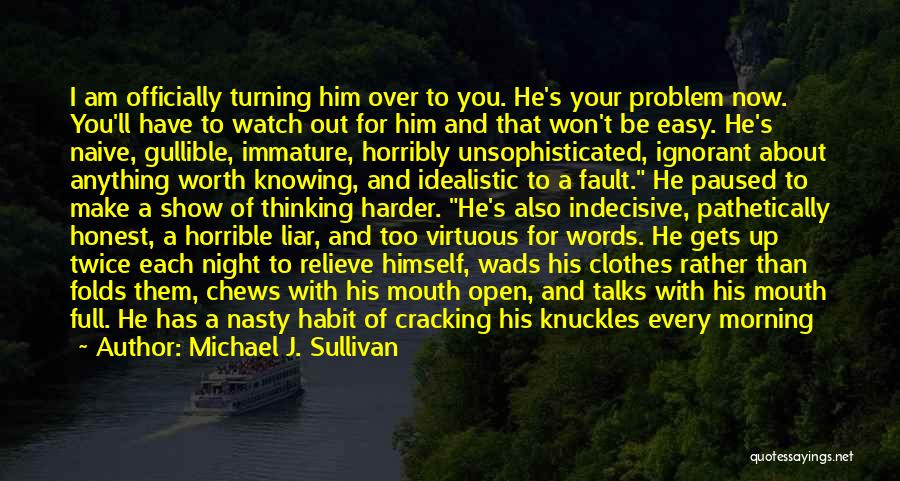 I'll Watch Over You Quotes By Michael J. Sullivan
