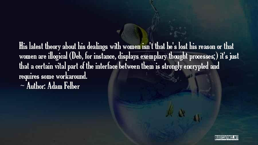 Illogical Quotes By Adam Felber