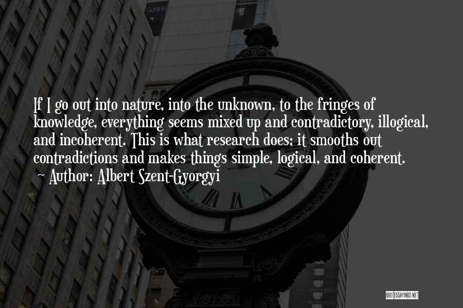 Illogical Quotes By Albert Szent-Gyorgyi