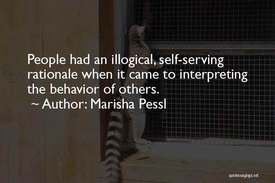Illogical Quotes By Marisha Pessl