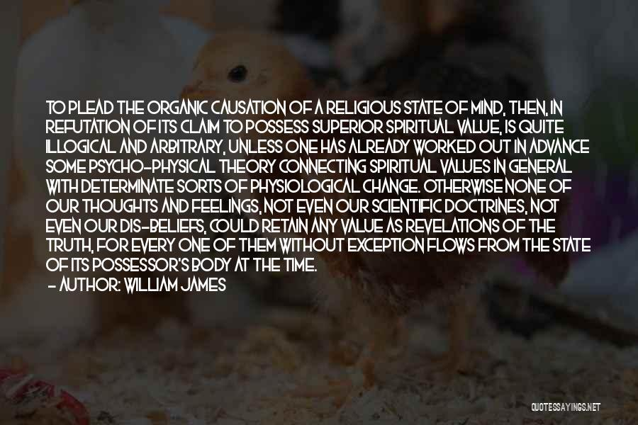 Illogical Quotes By William James