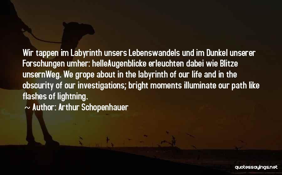 Illuminate Quotes By Arthur Schopenhauer