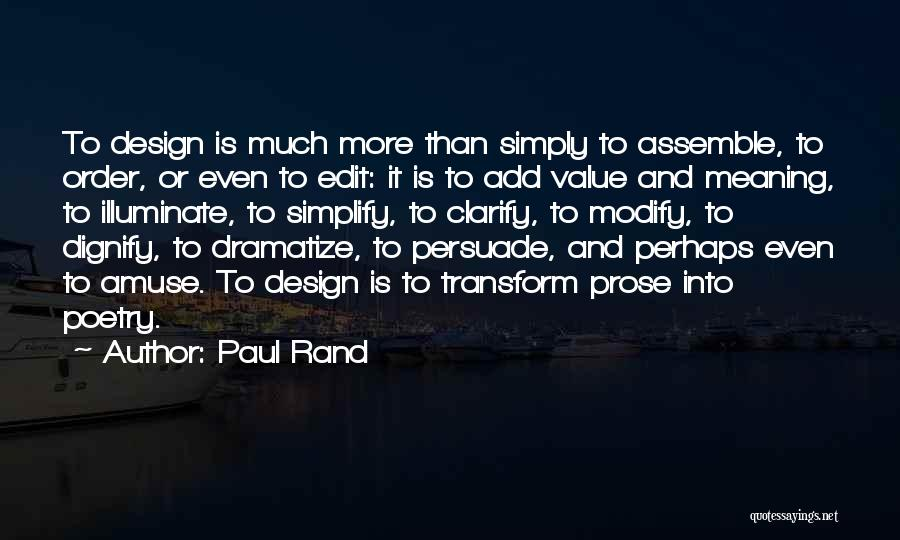 Illuminate Quotes By Paul Rand