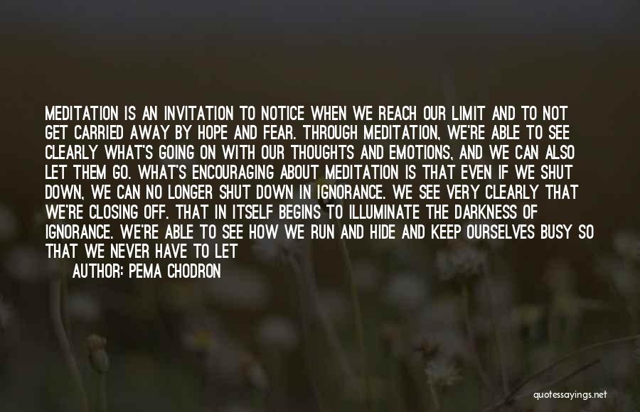 Illuminate Quotes By Pema Chodron
