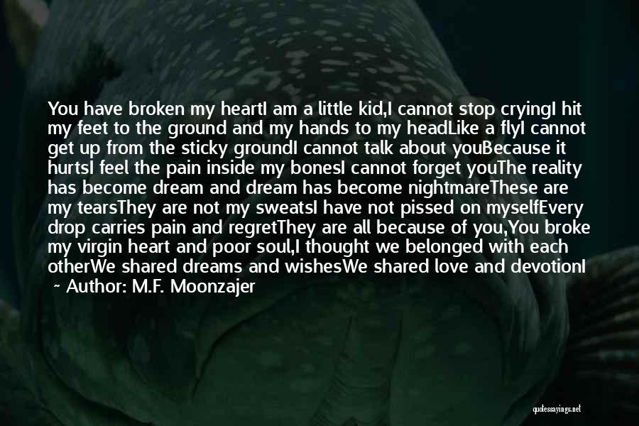 I'm A Kid At Heart Quotes By M.F. Moonzajer