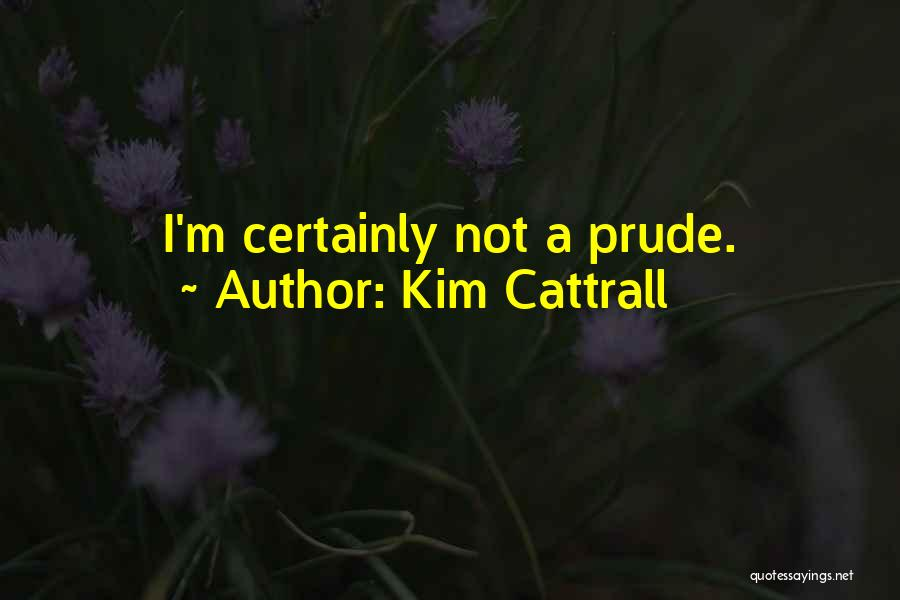 I'm A Prude Quotes By Kim Cattrall