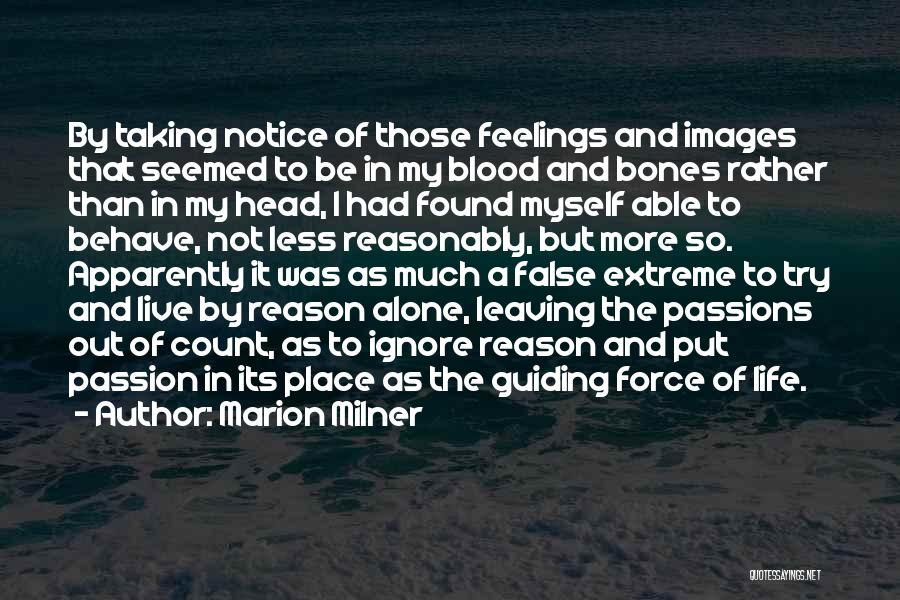 I'm Alone Images With Quotes By Marion Milner