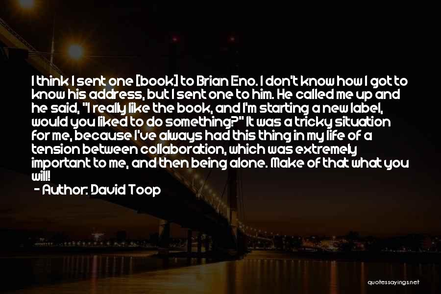 I'm Always Alone Quotes By David Toop