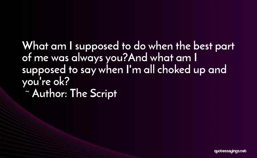 I'm Always Alone Quotes By The Script