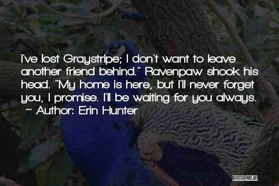 I'm Always Here For You Best Friend Quotes By Erin Hunter