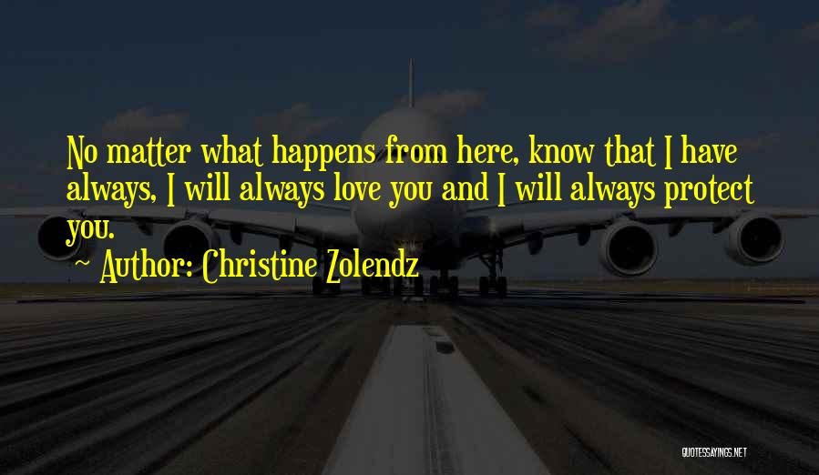 I'm Always Here For You No Matter What Quotes By Christine Zolendz