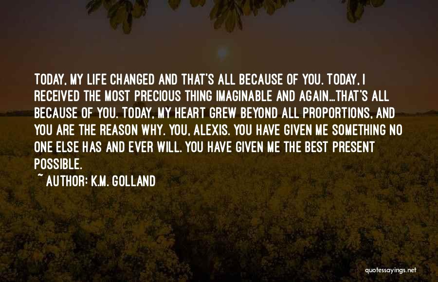I'm Best Quotes By K.M. Golland