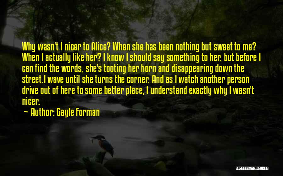 I'm Disappearing Quotes By Gayle Forman