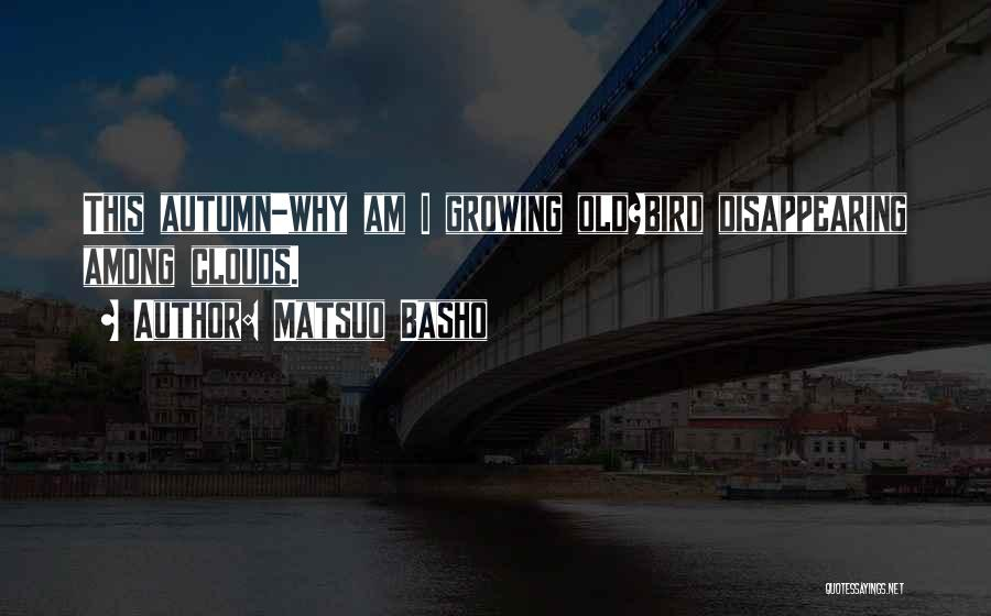 I'm Disappearing Quotes By Matsuo Basho