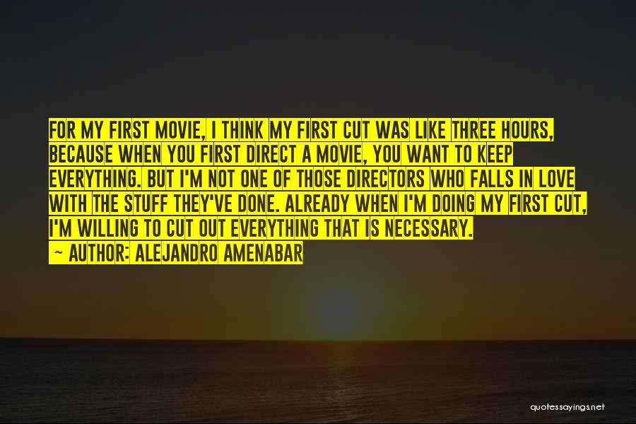 I'm Done Love Quotes By Alejandro Amenabar