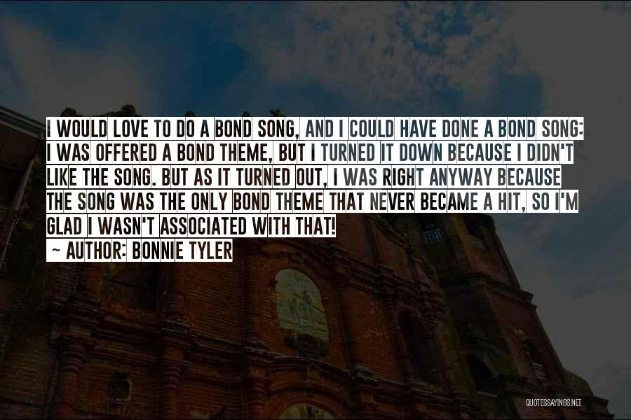 I'm Done Love Quotes By Bonnie Tyler