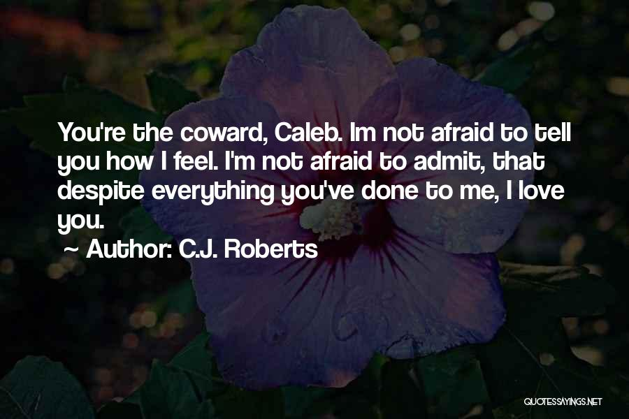 I'm Done Love Quotes By C.J. Roberts