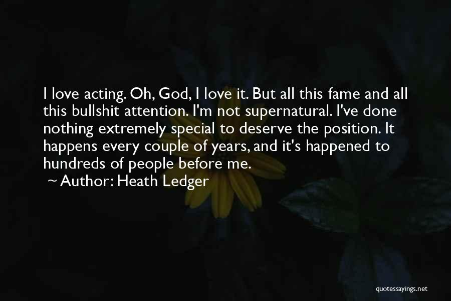 I'm Done Love Quotes By Heath Ledger
