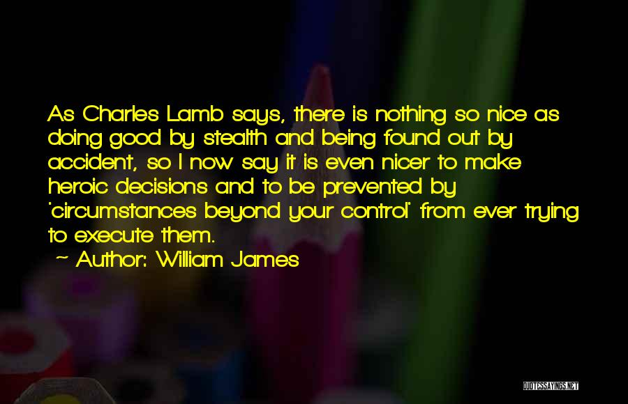 I'm Done Trying To Be Nice Quotes By William James