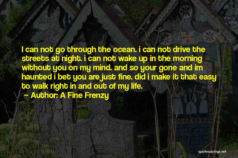 I'm Fine Without You Quotes By A Fine Frenzy