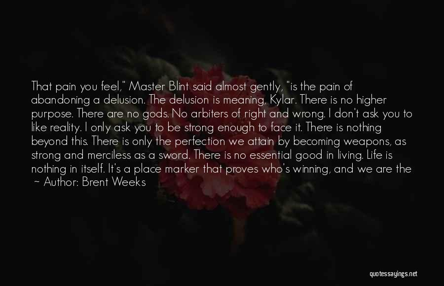 I'm In A Good Place Right Now Quotes By Brent Weeks