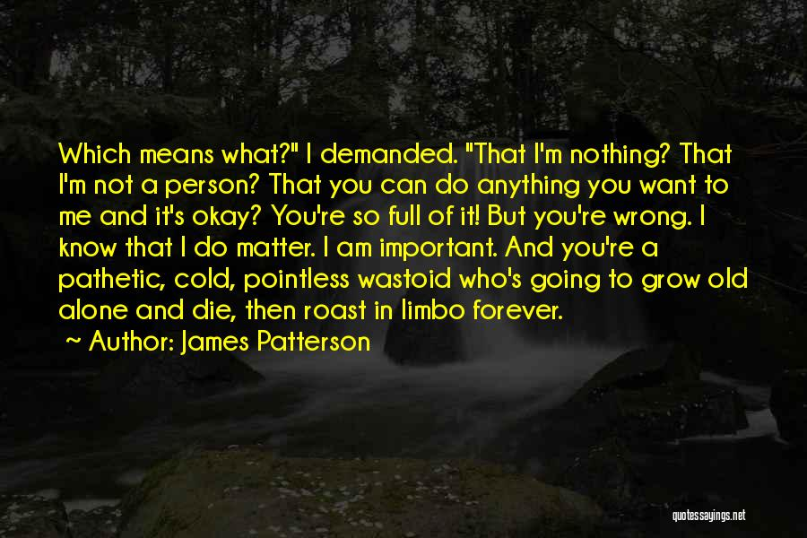 I'm In Limbo Quotes By James Patterson