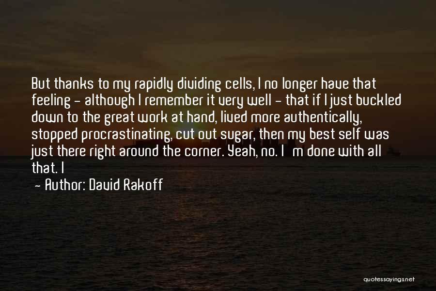 I'm Just Feeling Down Quotes By David Rakoff