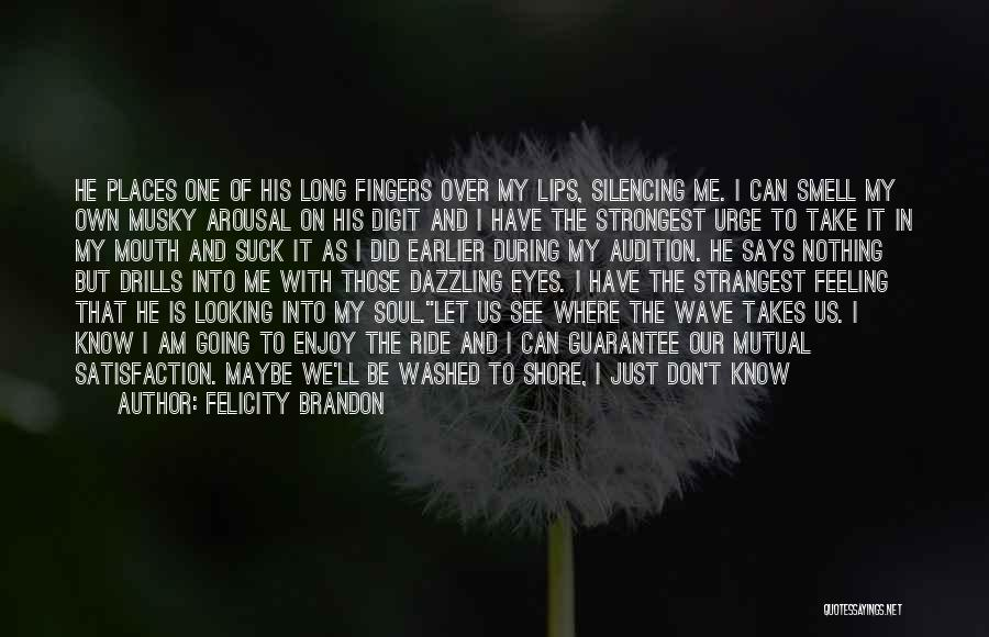 I'm Just Feeling Down Quotes By Felicity Brandon