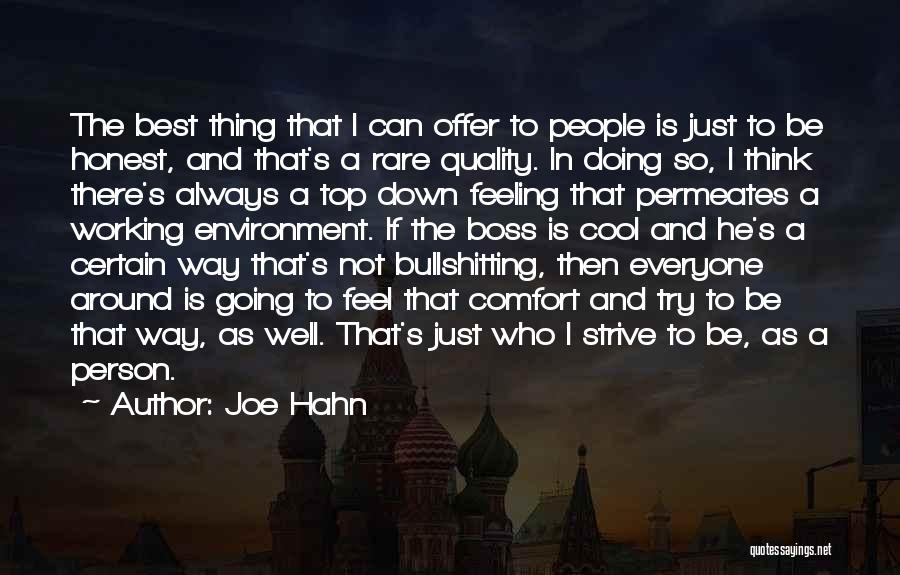 I'm Just Feeling Down Quotes By Joe Hahn