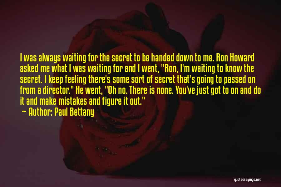 I'm Just Feeling Down Quotes By Paul Bettany