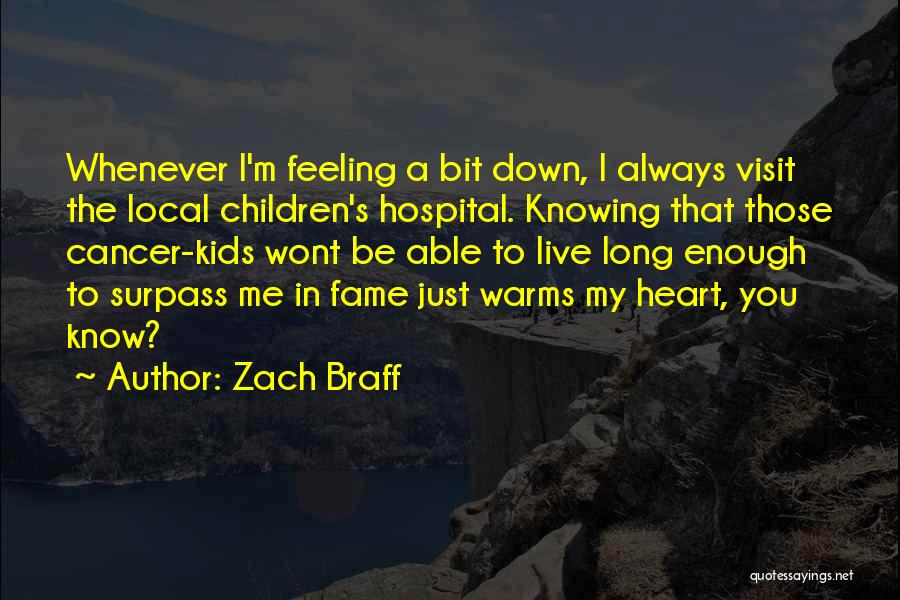 I'm Just Feeling Down Quotes By Zach Braff
