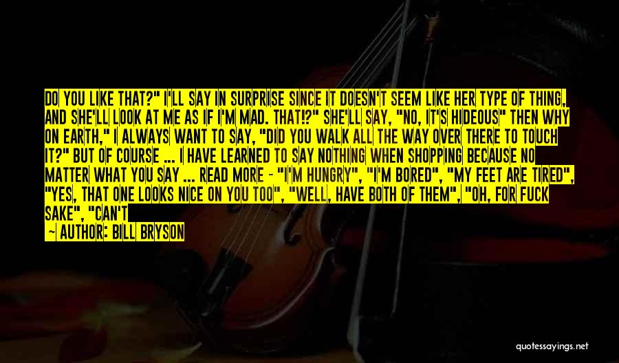 I'm Just Nothing To You Quotes By Bill Bryson